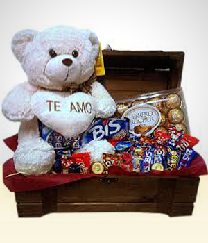 Presentes para Homens - Cesta de Chocolate Hummm  Chocolates