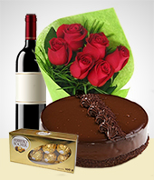 Valentine`s Day - Combo Rosas e Amores